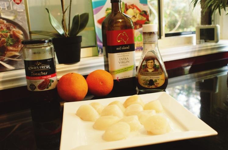 Ingredientes para preparar los ostiones